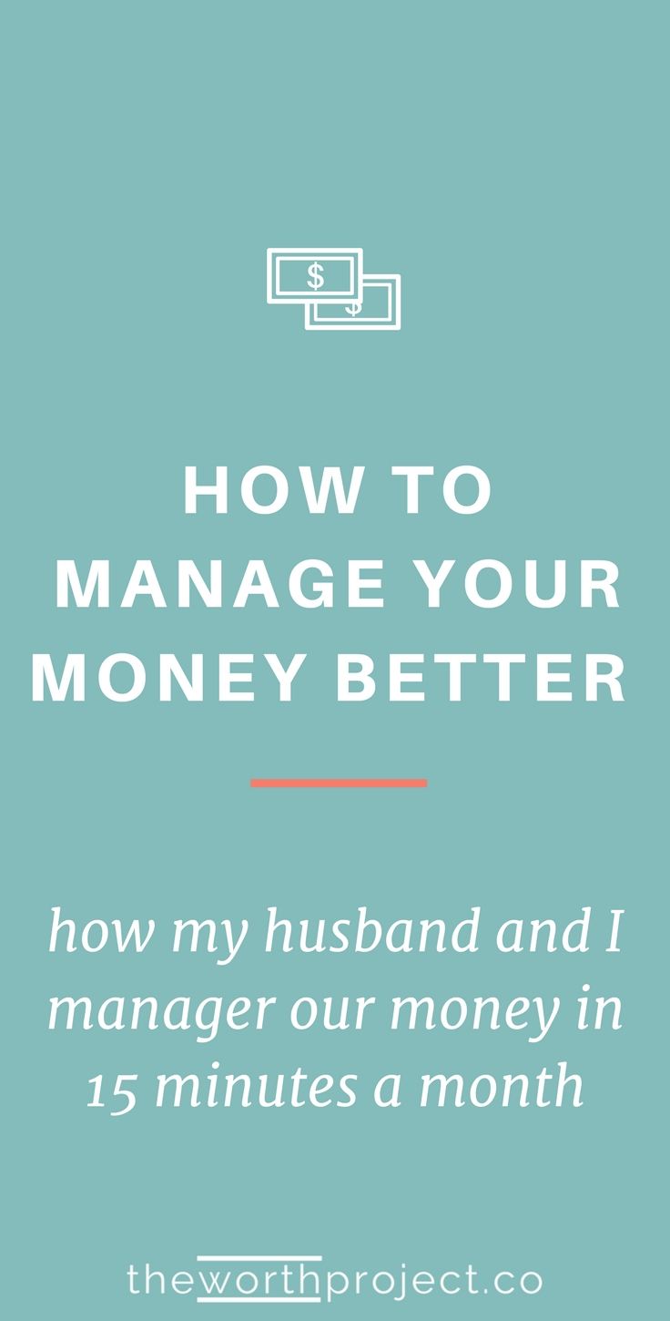 how to manage my money