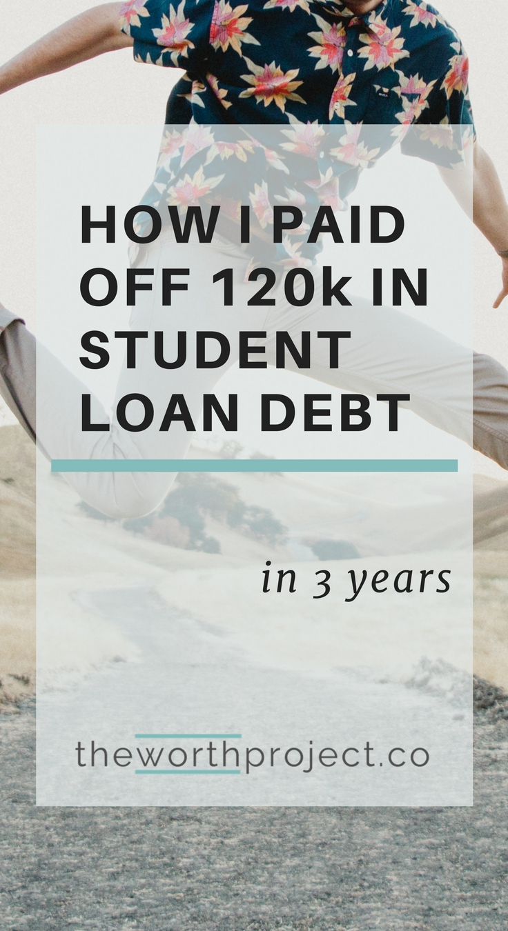 How I Paid Off $120K In Student Loans In 3 Years - The Worth