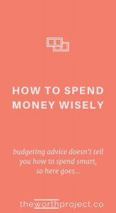 spend money wisely
