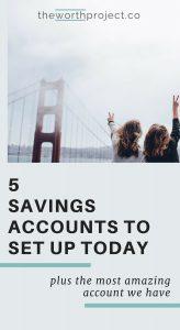 how many savings accounts