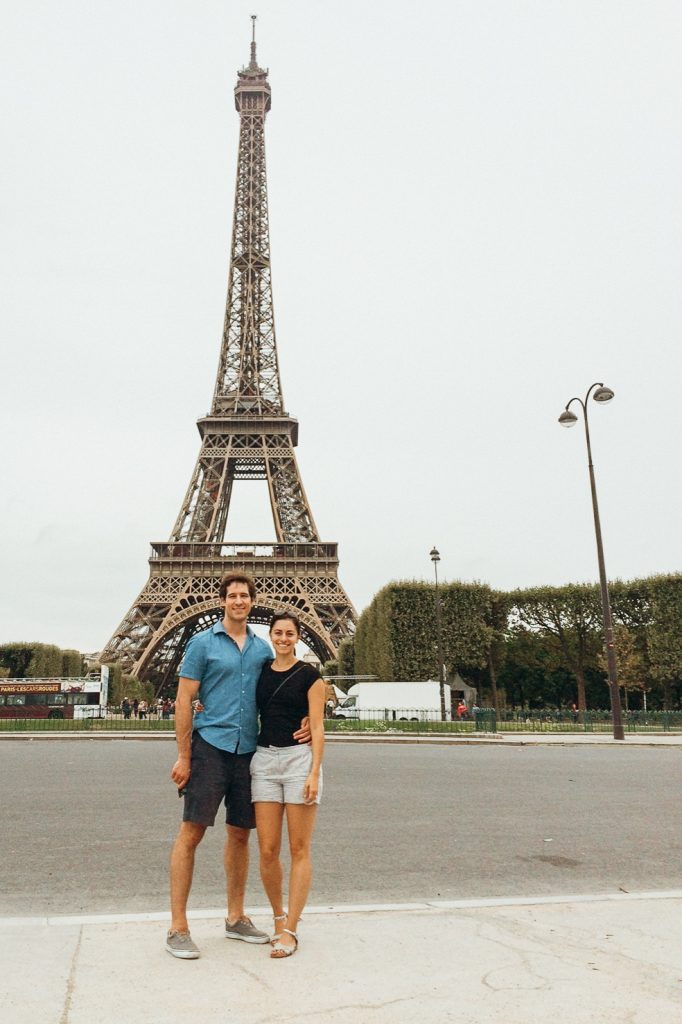 Jordan and Erica of The Worth Project enjoying the must-see city for the first time in Europe of Paris.